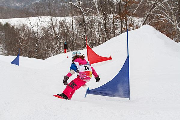 Snowboarding Banked Slalom